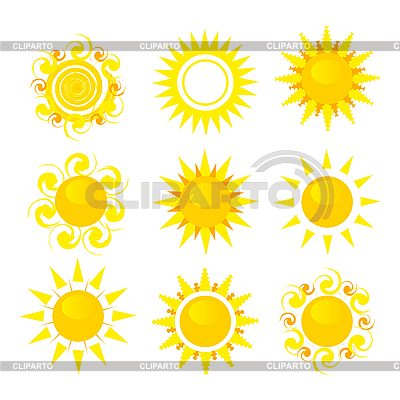 Set of sun | Stock Vector Graphics |ID 3154348