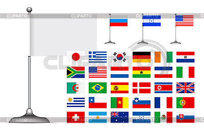 Set of flags | Stock Vector Graphics |ID 3154383