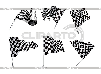 Checkered Flags set | Stock Vector Graphics |ID 3154431
