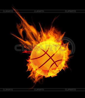 Баскетбольный мяч в огне | Векторный клипарт |ID 3229752