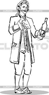Man in an old suit with bottle | Stock Vector Graphics |ID 3059965