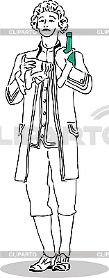 Man in an old suit | High resolution stock illustration |ID 3060000