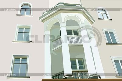 흰색 열이 집의 이미지 외관 | 벡터 클립 아트 |ID 3064315