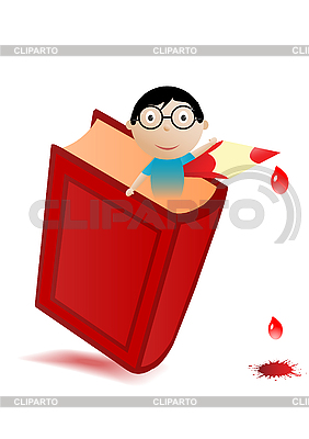 Red book and boy | Stock Vector Graphics |ID 3054688