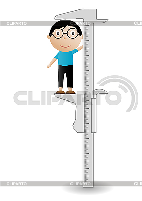 Boy and callipers   Stock Vector Graphics  ID 3054705