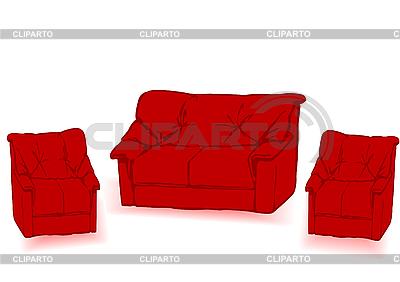 Red sofa | High resolution stock illustration |ID 3054816