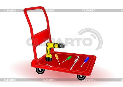 Werkzeuge auf einer Schubkarre | Stock Vektorgrafik |ID 3090731