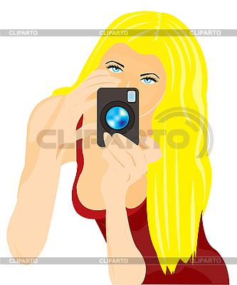 Girl photographer | Stock Vector Graphics |ID 3055586