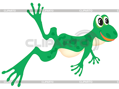 Green frog on white | Stock Vector Graphics |ID 3056545