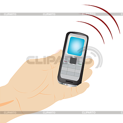 Mobile telephone in hand | Stock Vector Graphics |ID 3056838