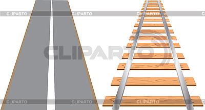 Eisenbahn und Autobanh | Stock Vektorgrafik |ID 3058064