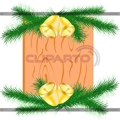 Weihnachtszweige mit Glöckcnen | Stock Vektorgrafik |ID 3058655