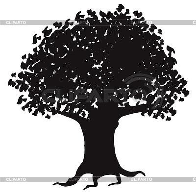 나무의 실루엣 | 벡터 클립 아트 |ID 3062114