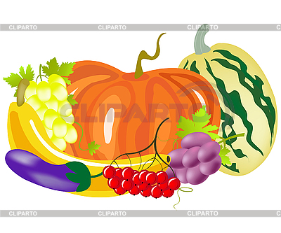 Vegetables and fruits | Stock Vector Graphics |ID 3077730