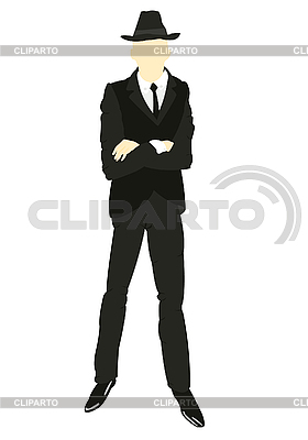 Silhouette of man in suit and tie | Stock Vector Graphics |ID 3106130