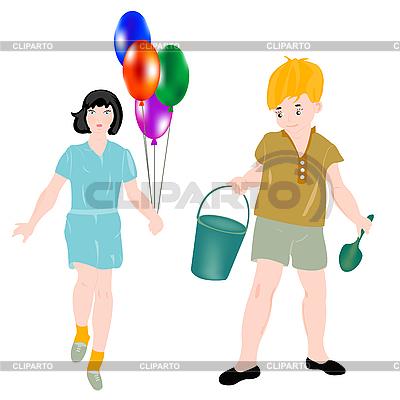 Mädchen und Junge | Stock Vektorgrafik |ID 3106175