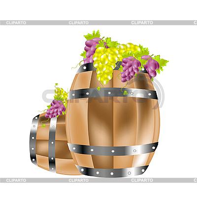 Grapes in barrels   Stock Vector Graphics  ID 3106612