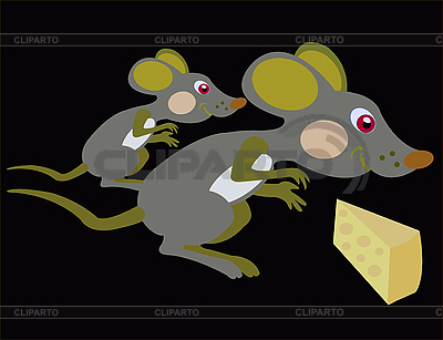 Mice and cheese | Stock Vector Graphics |ID 3124375