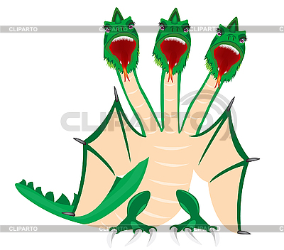 Dragon with three heads   Stock Vector Graphics  ID 3207694