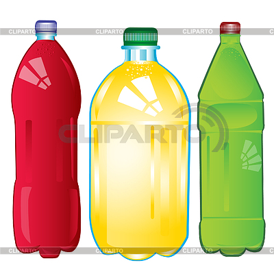 Bottles with carbonated water | Stock Vector Graphics |ID 3280415