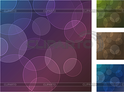 Set of four abstract backgrounds with circles   Stock Vector Graphics  ID 3059881