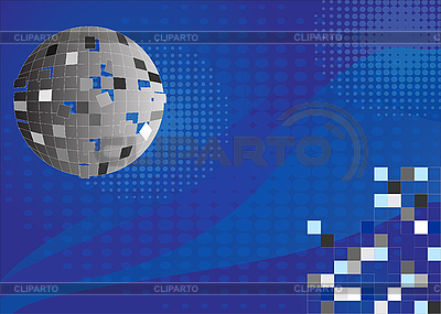 Blue background with disco ball | Stock Vector Graphics |ID 3059883