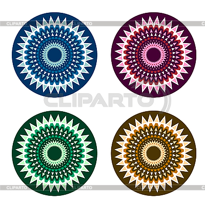 Circle dingbat ornaments | Stock Vector Graphics |ID 3059887