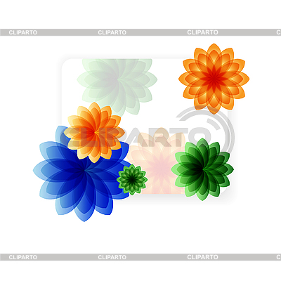 Tropical flowers card | Stock Vector Graphics |ID 3061249