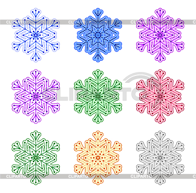 Coloured snowflakes   Stock Vector Graphics  ID 3061251