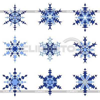 Zestaw izolowanych śniegu | Klipart wektorowy |ID 3068301