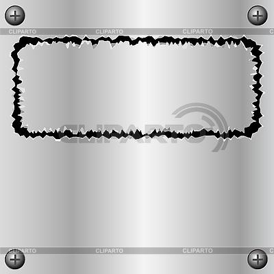 Metal torn frame | Stock Vector Graphics |ID 3070928