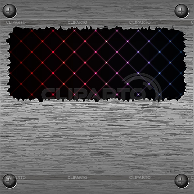 Streszczenie tle z metalową ramką | Klipart wektorowy |ID 3070932
