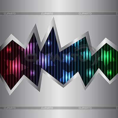 霓虹灯和金属背景   向量插图  ID 3073724