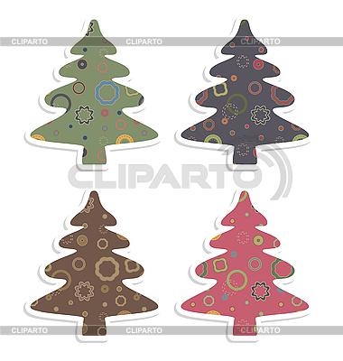 Retro christmas trees | Stock Vector Graphics |ID 3073726