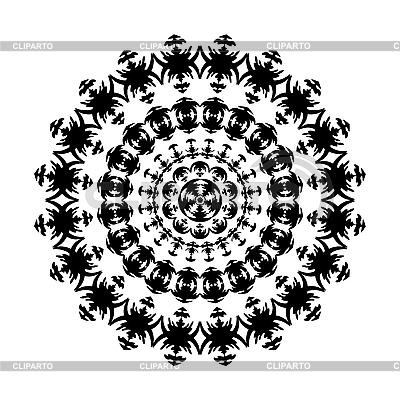 Czarno-biały ornament | Klipart wektorowy |ID 3079432