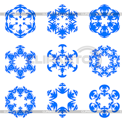Set of blue snowflakes | Stock Vector Graphics |ID 3079448