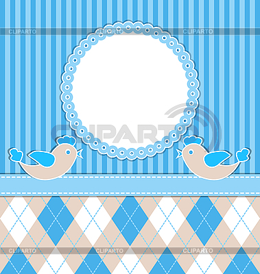Baby boy card with birds   Stock Vector Graphics  ID 3103857
