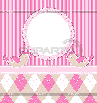 Baby girl card with birds | Stock Vector Graphics |ID 3103859