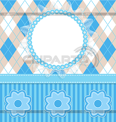 Baby boy card with flowers | Stock Vector Graphics |ID 3103861