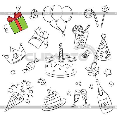Birthday Set   Stock Vector Graphics  ID 3059440