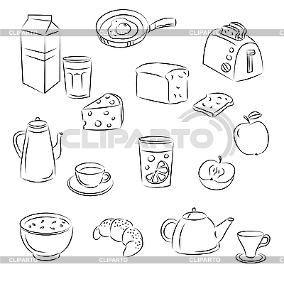 Breakfast Food | Klipart wektorowy |ID 3059448