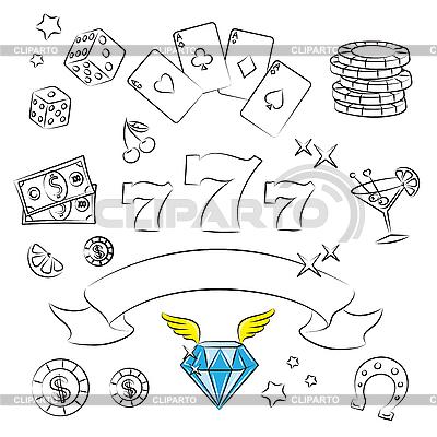 Set Casino | Klipart wektorowy |ID 3059450