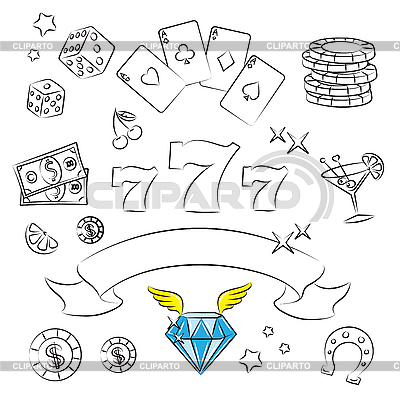 Glücksspiele und Kasino | Stock Vektorgrafik |ID 3059450