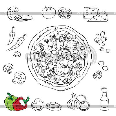 Pizza | Stock Vektorgrafik |ID 3059516