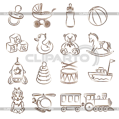Baby Toys Set | Stock Vector Graphics |ID 3059526