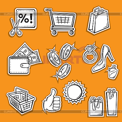 Einkäufe und Shopping | Stock Vektorgrafik |ID 3060645