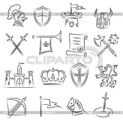 Medieval Set | Klipart wektorowy |ID 3060655