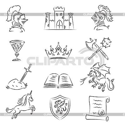 Medieval Set | Klipart wektorowy |ID 3060657