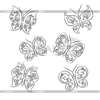 蝴蝶 | 向量插图 |ID 3063071