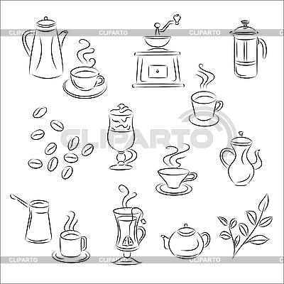 Кофе и чай | Векторный клипарт |ID 3063075